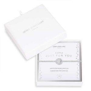 BEAUTIFULLY BOXED A LITTLES | JUST FOR YOU | Silver | Bracelet | 17.5cm stretch