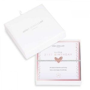 BEAUTIFULLY BOXED A LITTLES | 21ST BIRTHDAY | Silver | Bracelet | 17.5cm stretch