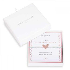 BEAUTIFULLY BOXED A LITTLES | 30TH BIRTHDAY | Silver | Bracelet | 17.5cm stretch