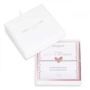 BEAUTIFULLY BOXED A LITTLES | 40TH BIRTHDAY | Silver | Bracelet | 17.5cm stretch