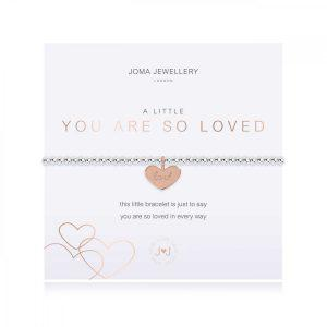 A LITTLE | YOU ARE SO LOVED | Silver | Bracelet | 17.5cm stretch