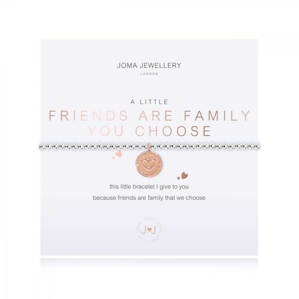 A LITTLE | FRIENDS ARE THE FAMILY YOU CHOOSE | Silver | Bracelet | 17.5cm stretch