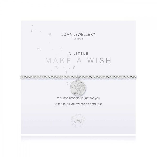 A LITTLE   MAKE A WISH   Silver   Bracelet   17.5cm stretch