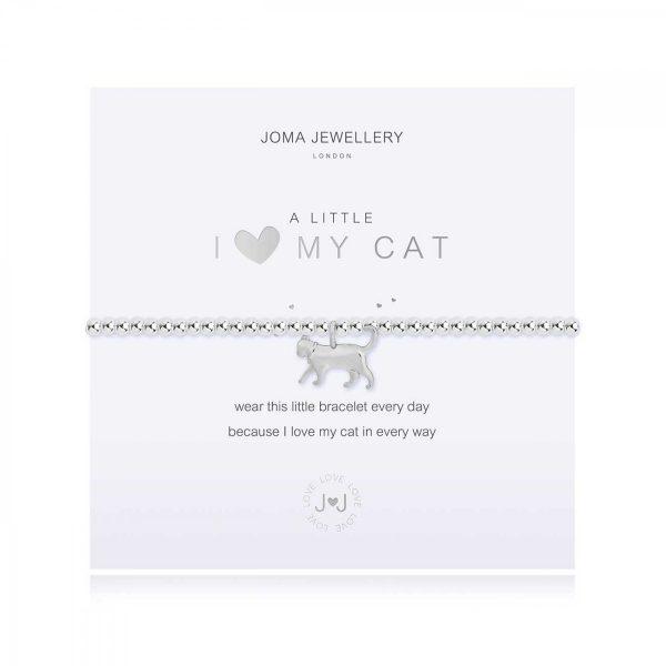 A LITTLE | I <3 MY CAT | Silver | Bracelet | 17.5cm stretch