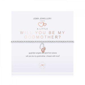 A LITTLE | WILL YOU BE MY GODMOTHER | Silver | Bracelet | 17.5cm stretch