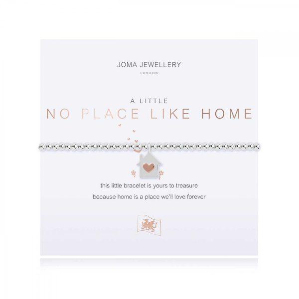 A LITTLE | NO PLACE LIKE HOME (WELSH) | Silver | Bracelet | 17.5cm stretch