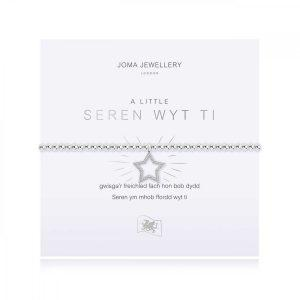 A LITTLE | YOU'RE A STAR (WELSH) | Silver | Bracelet | 17.5cm stretch