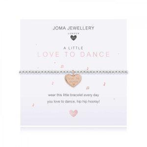 CHILDREN'S A LITTLE | LOVE TO DANCE | Silver | Bracelet | 15.5cm stretch
