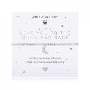 CHILDREN'S A LITTLE | LOVE YOU TO THE MOON AND BACK | Silver | Bracelet | 15.5cm stretch