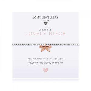 CHILDREN'S A LITTLE | LOVELY NIECE | Silver | Bracelet | 15.5cm stretch
