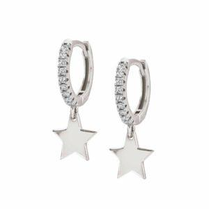 CHIC&CHARM earrings in 925 silver and cubic zirconia (RICH) (015_Silver Star)