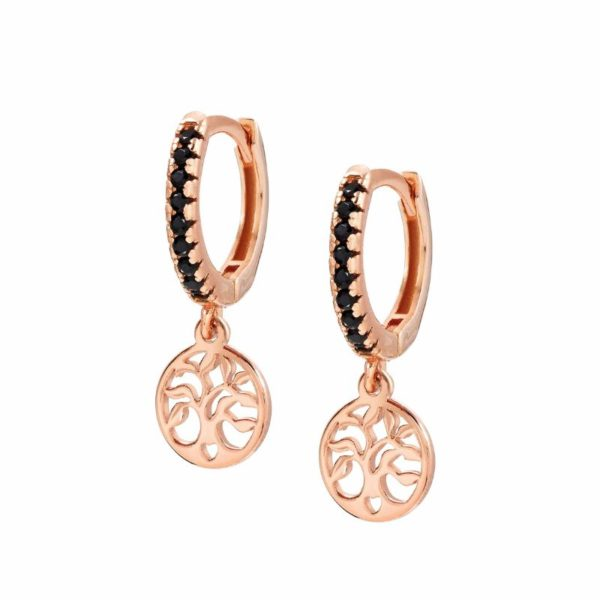 CHIC&CHARM earrings in 925 silver and cubic zirconia (RICH) (042_Tree of Life Rosegold)